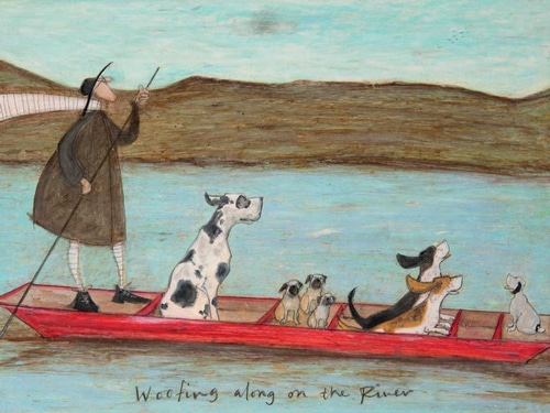 Toft, Sam 아티스트의 Woofing along on the River 작품