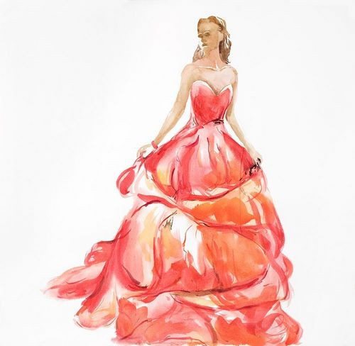 Atelier B Art Studio 아티스트의 BEAUTIFUL RED PROM DRESS 작품