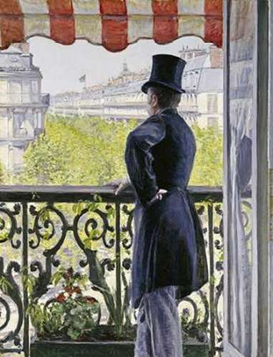 Caillebotte, Gustave 아티스트의 Man on a Balcony, Boulevard Haussmann 작품