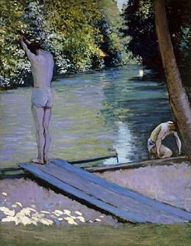 Caillebotte, Gustave 아티스트의 Bather About To Plunge Into The River Lyrres 작품