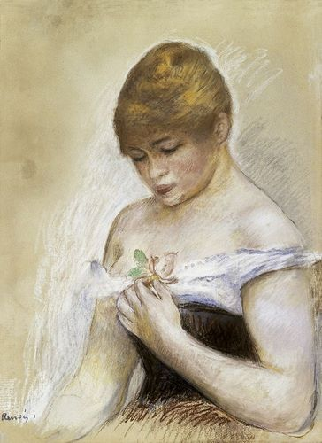 Renoir, Pierre-Auguste 아티스트의 Portrait de Jeanne Samary 작품