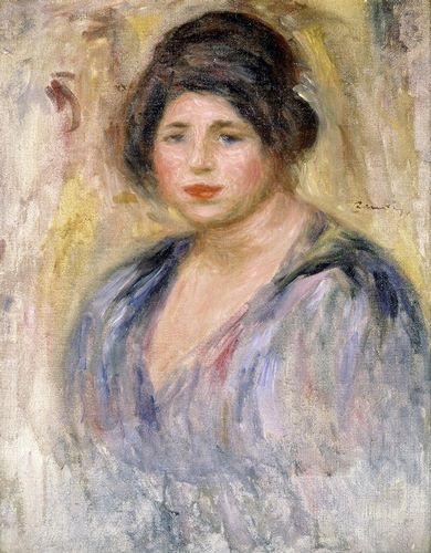 Renoir, Pierre-Auguste 아티스트의 The Woman with a Hat (La Femme au Chapeau) 작품