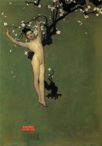Sargent, John Singer 아티스트의 Nude Oriental Youth with Apple Blossom, 1878-79 작품