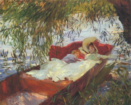 Sargent, John Singer 아티스트의 Two Women Asleep under the Willows 작품