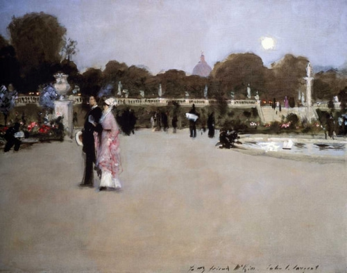 Sargent, John Singer 아티스트의 Luxembourg Gardens at Twilight 작품