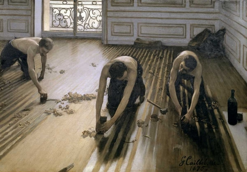 Caillebotte, Gustave 아티스트의 The Floor Scrapers 작품