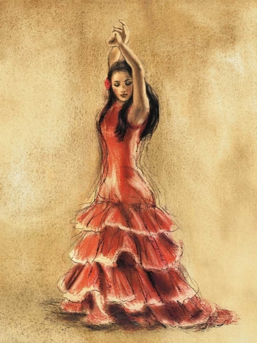 Gold, Caroline 아티스트의 Flamenco Dancer I 작품