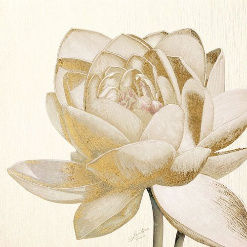 Cusson, Marie Elaine 아티스트의 Vintage Lotus Cream II 작품