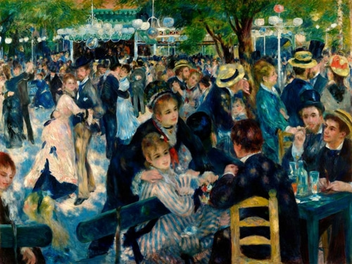 Renoir, Pierre-Auguste 아티스트의 Dance at Le Moulin de la Galette 작품