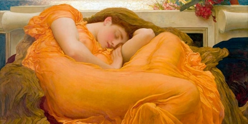 Leighton, Frederic 아티스트의 Flaming June (detail) 작품