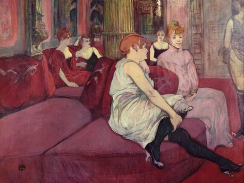 de Toulouse-Lautrec, Henri  아티스트의 In the Salon at the Rue des Moulins 작품
