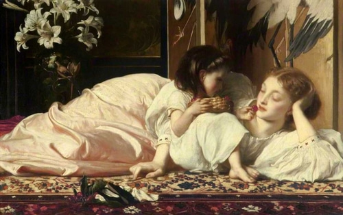 Leighton, Frederic 아티스트의 Mother and Child 작품