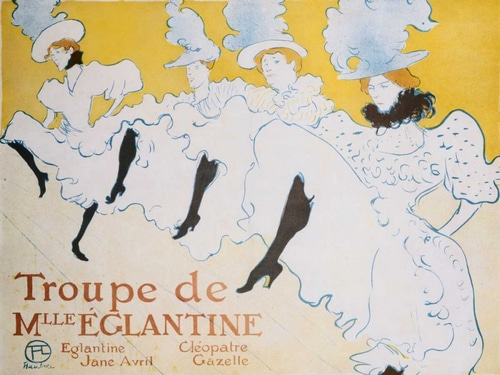 de Toulouse-Lautrec, Henri  아티스트의 The Troup of Madame Eglantine 작품