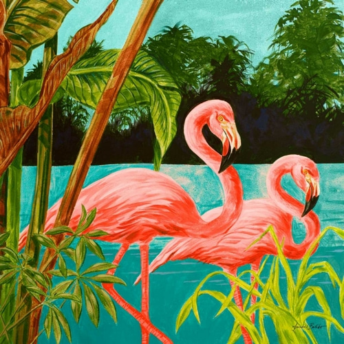 Baliko, Linda 아티스트의 Hot Tropical Flamingo II 작품