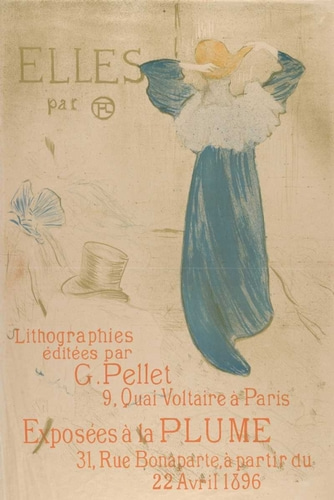 de Toulouse-Lautrec, Henri 아티스트의 Elles (poster for 1896 exhibition at La Plume) 작품
