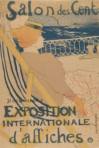 de Toulouse-Lautrec, Henri 아티스트의 Salon des Cent-Exposition Internationale daffiches 작품