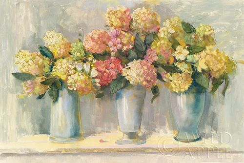 Rowan, Carol 아티스트의 Ivory and Blush Hydrangea Bouquets 작품
