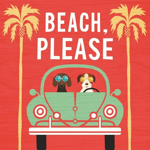 Mullan, Michael 아티스트의 Beach Bums Beetle I square 작품