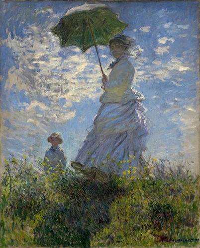 Monet, Claude 아티스트의 Woman with a Parasol - Madame Monet and Her Son 작품