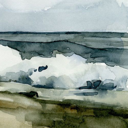 Caroline, Emma 아티스트의 Loose Watercolor Waves VI 작품
