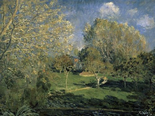 Sisley 아티스트의 The Garden of Hoschede Family, 1881 작품