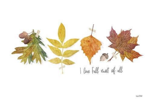 House Fenway 아티스트의 I Love Fall Most of All 작품